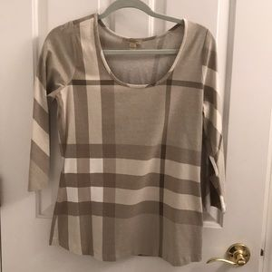 Burberry Brit 3/4 length sleeve shirt. L NWOT